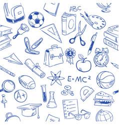 back to school education doodles pencil vector image vector image