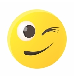 Eyewink emoticon icon cartoon style vector image vector image