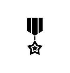 medal star icon black sign vector image vector image