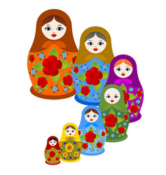 set of nested dolls vector image vector image