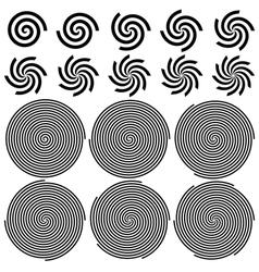 Spirals Pattern Set vector image