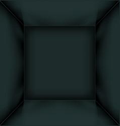Black simple empty room interior vector image