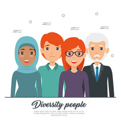 diversity people concept vector image vector image