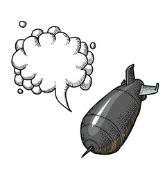 falling bomb-100 vector image vector image