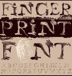 Fingerprint Font vector image vector image