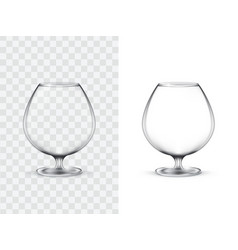 realistic glasses for alcohol vector image vector image