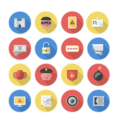 Security - Flat Icons vector image vector image