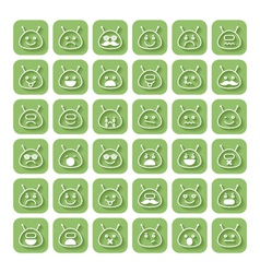 Set of emoticons space aliens vector image