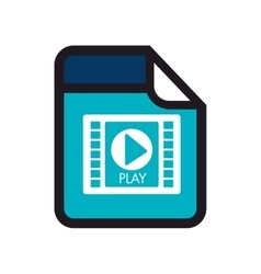 video movie format type media vector image vector image