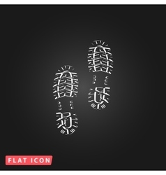 clean shoe imprints vector image vector image