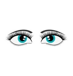 female cartoon eyes icon vector image