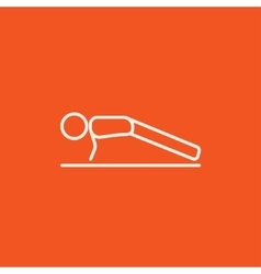 Man making push ups line icon vector image vector image