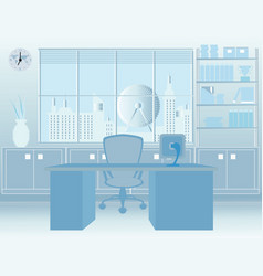 modern room office interior vector image vector image