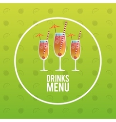 set cocktail design style vector image