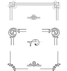 set for the decoration of the page vector image vector image