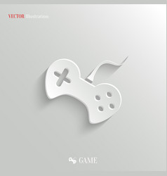 Video game icon - white app button vector image