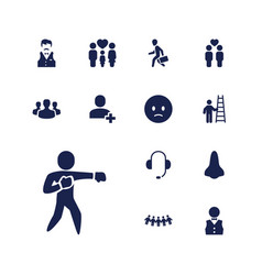 13 man icons vector