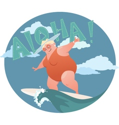 Active retirement vector image