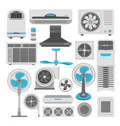 Air conditioners and fans or air purifiers vector