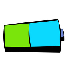 battery icon icon cartoon vector image