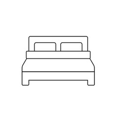 bed icon symbol simple design vector image