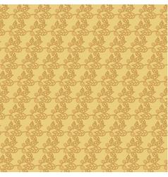 Beige floral wallpaper background vector