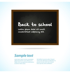 blackboard with sample chalk text vector image