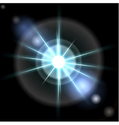 Blue luminous star Lens flare effect vector