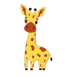 cartoon cute giraffe vector image