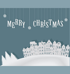christmas card template flyer vector image