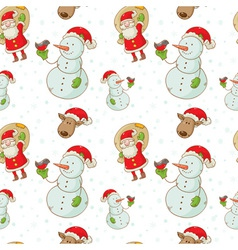 christmas figures seamless white big vector image