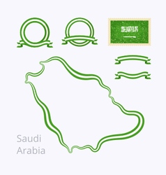 Colors of Saudi Arabia vector image