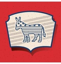 Donkey of vote inside frame design vector image