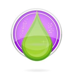 energy nature drop sign eco green color vector image