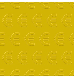 Euro pattern vector image