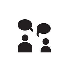 flat conversation people talk bubble chat speech vector image