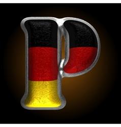 Germany metal figure p vector
