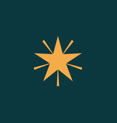 gold star on dark blue background vector image
