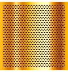 Golden perforated sheet vector image