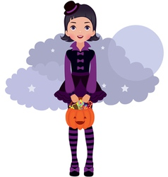 Gothic Lolita Halloween vector