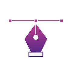 graphic design fountain pen tool vector image