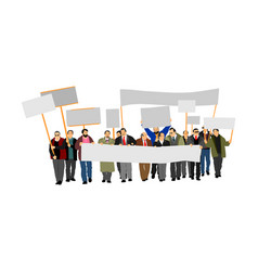 Group protester social laborers demonstration vector