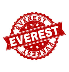 Grunge textured everest stamp seal vector