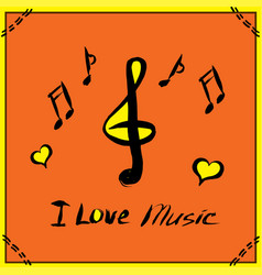 hand drawn music poster vector image