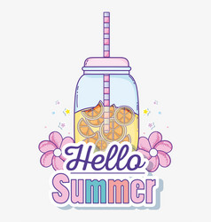 Hello summer juice vector