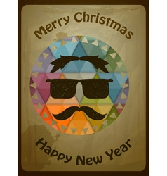 Hipster christmas greeting card vector