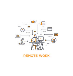 icon business 04 remote work and vector image