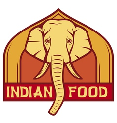 Indian food label design vector