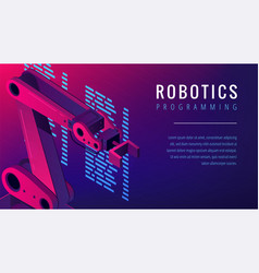 Isometric automated robot arm as robotics vector