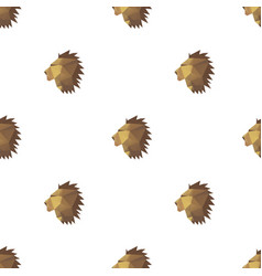 lion head triangle pattern backgrounds vector image